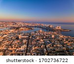 Aerial View Of Valletta City...