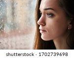 Sad Upset Crying Woman With...