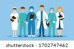 group of doctors and nurses... | Shutterstock .eps vector #1702747462