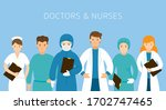 group of doctors and nurses... | Shutterstock .eps vector #1702747465
