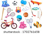 sport object set isolated on... | Shutterstock .eps vector #1702761658