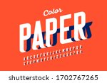 Paper Craft Style Font Design ...