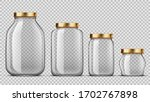 clear glass jars for canning... | Shutterstock .eps vector #1702767898