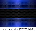 black and blue metal background.... | Shutterstock .eps vector #1702789402