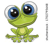 cute cartoon frog isolated on a ...   Shutterstock .eps vector #1702795648