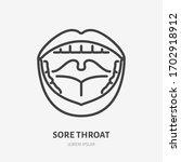 sore throat line icon  vector... | Shutterstock .eps vector #1702918912