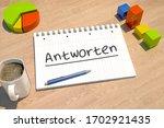antworten   german word for...   Shutterstock . vector #1702921435