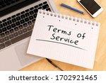 terms of service   handwritten...   Shutterstock . vector #1702921465