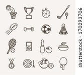 set of monochrome sport icons | Shutterstock .eps vector #170293706