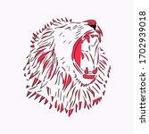illustration of a lion head...   Shutterstock .eps vector #1702939018