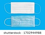 two medical protective mask... | Shutterstock . vector #1702944988