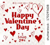 happy valentine's day hand... | Shutterstock .eps vector #170295608