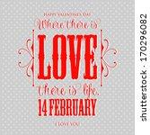 happy valentine's day hand... | Shutterstock .eps vector #170296082