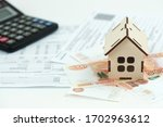 Small photo of receipt for housing and communal services, the concept of raising prices