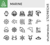 set of marine icons. such as... | Shutterstock .eps vector #1702985245