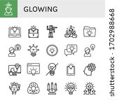 glowing icon set. collection of ... | Shutterstock .eps vector #1702988668