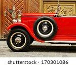 red vintage rarity car   Shutterstock . vector #170301086