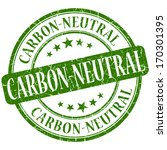 carbon neutral grunge green... | Shutterstock . vector #170301395