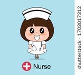 cartoon character nurse design  ... | Shutterstock .eps vector #1703017312