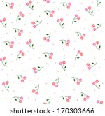 cute flowers seamless pattern | Shutterstock .eps vector #170303666