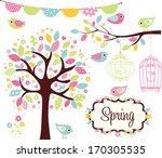spring garden | Shutterstock .eps vector #170305535