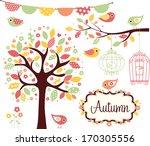 Stock vector autumn garden 170305556