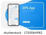 gps app. smartphone blank...