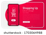 shopping up. smartphone blank...