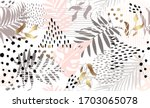 seamless exotic pattern with... | Shutterstock .eps vector #1703065078