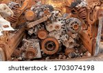 Rusted Engine Of An Old...