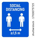 social distancing at least 1 5...   Shutterstock .eps vector #1703075725