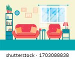 living room with furniture.... | Shutterstock .eps vector #1703088838