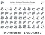 united states of america states ... | Shutterstock .eps vector #1703092552