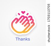 thanks for your help  symbol ... | Shutterstock .eps vector #1703113705