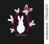 easter bunny  | Shutterstock . vector #170312372