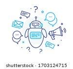 social media post robot.... | Shutterstock .eps vector #1703124715