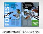 printing ecology magazine ... | Shutterstock .eps vector #1703126728