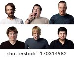 six very angry young men... | Shutterstock . vector #170314982