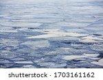 Melting Ice On The Lake. Ice...