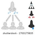 mesh nasal virus spread... | Shutterstock .eps vector #1703175835