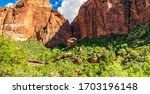 Panoramic View Zion Canyon Seen ...