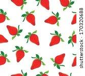 strawberries seamless pattern | Shutterstock . vector #170320688