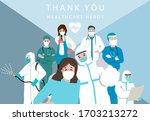 novel coronavirus background...   Shutterstock .eps vector #1703213272