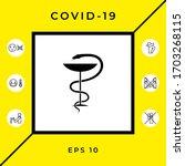 pharmacy symbol medical snake... | Shutterstock .eps vector #1703268115