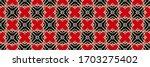 geometric pattern  gradient...   Shutterstock . vector #1703275402