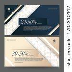 gift voucher template promotion ... | Shutterstock .eps vector #1703310142