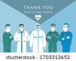 doctor is working to prevent...   Shutterstock .eps vector #1703313652