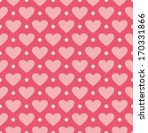pink background with hearts and ... | Shutterstock . vector #170331866