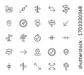 stroke line icons set of... | Shutterstock .eps vector #1703330368