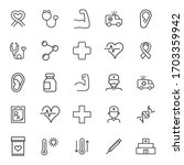 stroke line icons set of... | Shutterstock .eps vector #1703359942